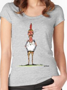 bobby chickenson Women's Fitted Scoop T-Shirt