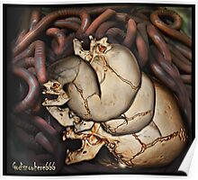 Skulls and worms godisnowhere666 Poster