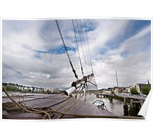 Bow of the Dunbrody Tall Ship, New Ross, County Wexford, Ireland Poster