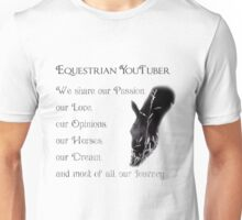 Equestrian YouTuber Unisex T-Shirt