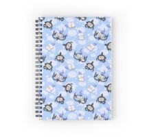 Precious Blue Litwick, Lampent, and Chandelure Spiral Notebook