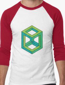 Impossible Shapes: Cube Men's Baseball ¾ T-Shirt