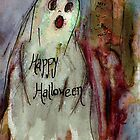 Ghost 1  Happy Halloween Art by ClaireBull