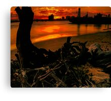 The demise of nature - the glory of man Canvas Print