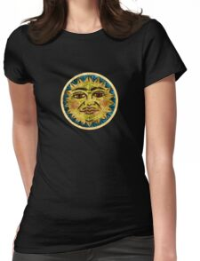 Old Gold Sun Womens Fitted T-Shirt