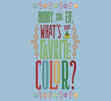 Buddy the Elf - What's Your Favorite Color? Kids Tee