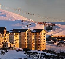 Hotham at sunrise by Charles Kosina