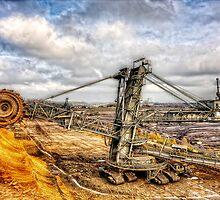 bucket-wheel excavator by MarkusWill