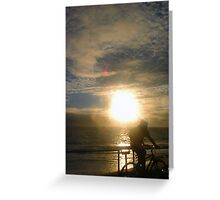Sunset Bike Greeting Card