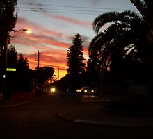 Princess Road Sunset Two by Robert Phillips