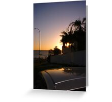 Sunset From A Car Roof Greeting Card