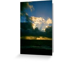 Sunset Winter One Greeting Card