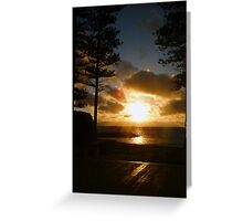 Cottesloe Platform Sunset Greeting Card