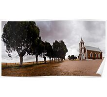 Lonely Church- Strathalbyn, South Australia. Poster