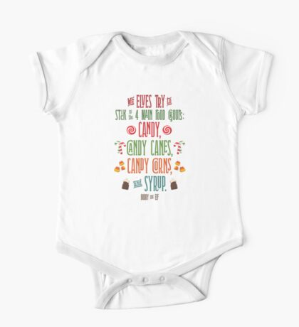 Buddy the Elf - The Four Main Food Groups One Piece - Short Sleeve
