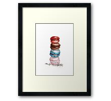 Macarons Watercolor Illustration  Framed Print