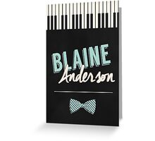 Blaine Anderson Piano Greeting Card