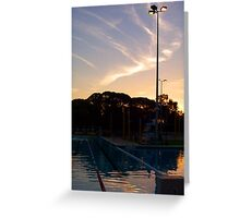 Sunset Aquatic Centre Four Greeting Card
