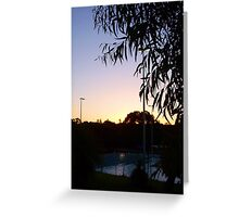 Sunset At The Swimpool Greeting Card