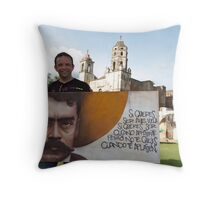 Emiliano Zapata in Tepoztlan Throw Pillow
