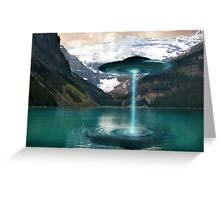 UFO Lake Louise. Aug 7, 2011 Greeting Card
