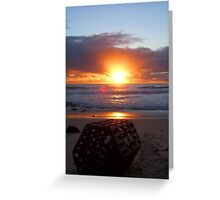 Sunset Craypot Greeting Card