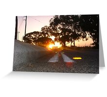 Sunset Railway Road Two Greeting Card