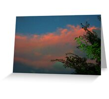 Sunset Leaves Cloud Greeting Card