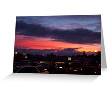 Sunset Carpark Two Greeting Card