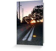 Sunset Nine Greeting Card