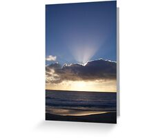 Sunset Seven Greeting Card