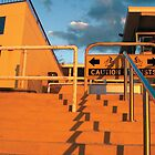 North Cottesloe Steps At Sunset by Robert Phillips