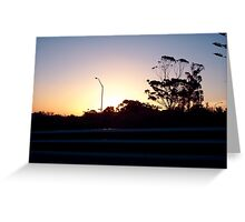 Freeway Sunset Greeting Card