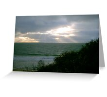 Sunset Green Greeting Card