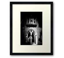 Organ Pipes & Stone Framed Print
