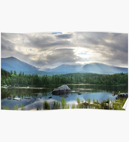 Katahdin from Sandy Stream Poster