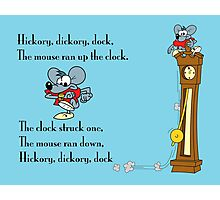 Hickory, Dickory Dock Photographic Print