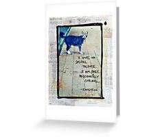 Curious Cat - Mixed Media Photography Greeting Card
