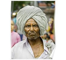 An elderly person, in palkhi procession ! Poster