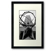 Atlus Statue - New York Framed Print