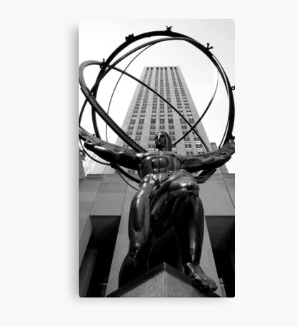 Atlus Statue - New York Canvas Print