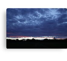 Clouds at sunset 1 Canvas Print