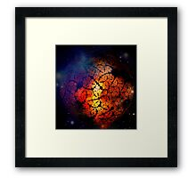 Planet of Lava Framed Print