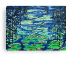 Lily Pond through Willows Canvas Print
