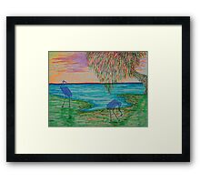 The Ghostly Cranes Framed Print