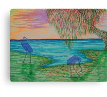 The Ghostly Cranes Canvas Print