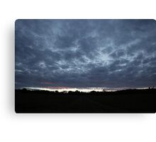Clouds at sunset 2 Canvas Print