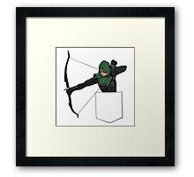 Arrow in my Pocket Framed Print
