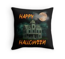 Haunted Mansion - Happy Halloween Throw Pillow