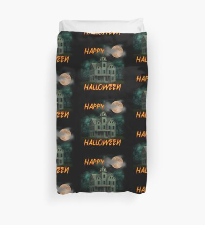 Haunted Mansion - Happy Halloween Duvet Cover